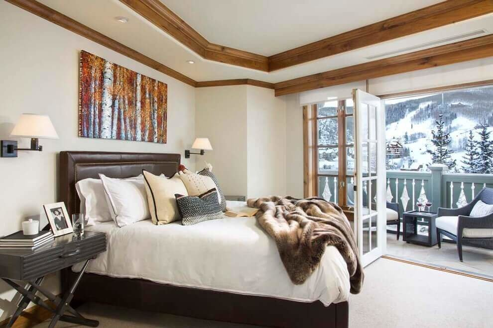 Best Wood Crown Molding In A Contemporary Bedroom – Remodeling With Pictures