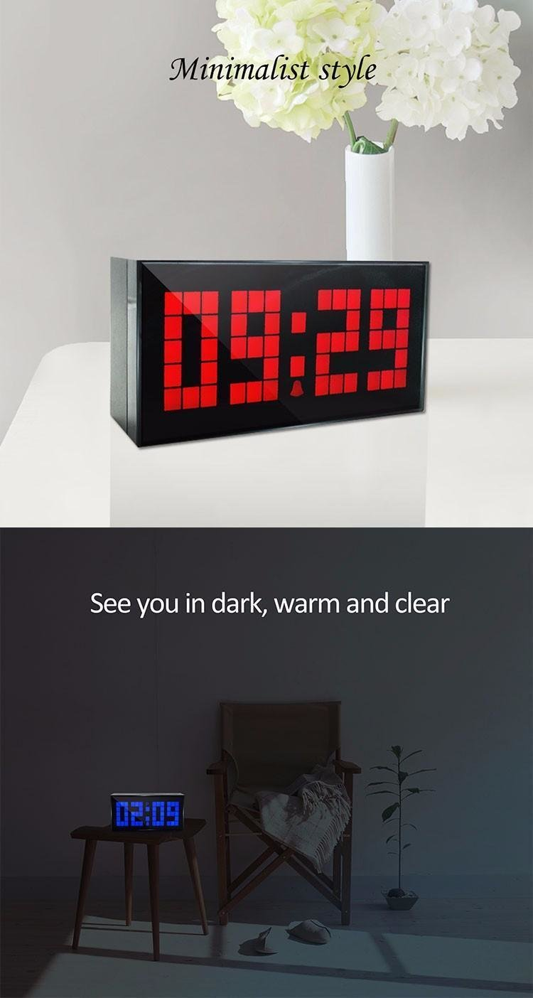 Best Ch Kosda Led Digital Alarm Clock Date Temperature Large With Pictures