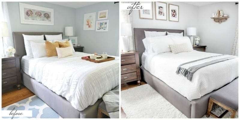 Best Small Master Bedroom Makeover Before After Paint With Pictures