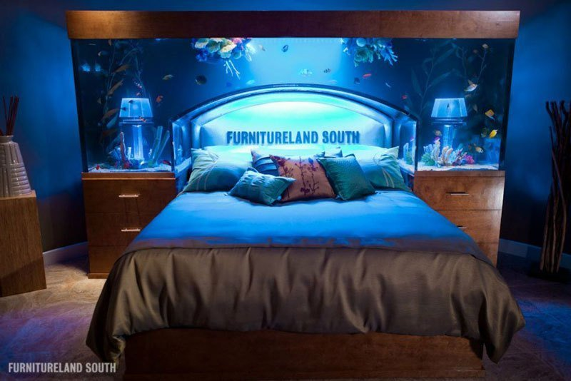 Best Cool Custom Fish Tank Headboard For Your Bed «Twistedsifter With Pictures