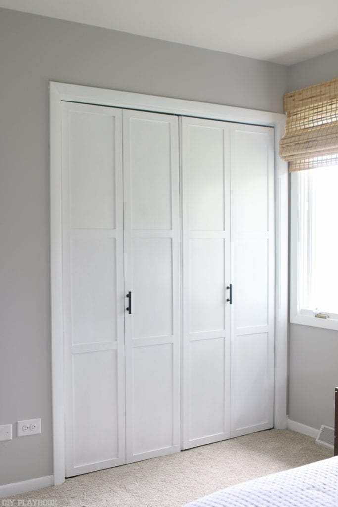 Best How To Add Diy Molding To Closet Doors On A Budget With Pictures