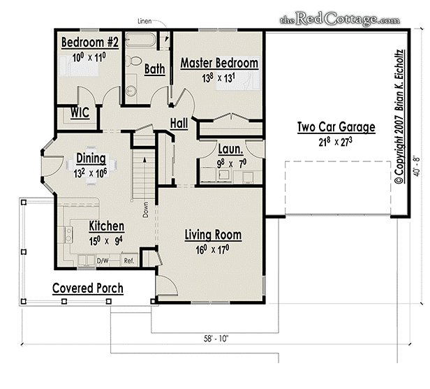 Best Quaint Cottage House Plans Small Two Bedroom Cottage Floor With Pictures