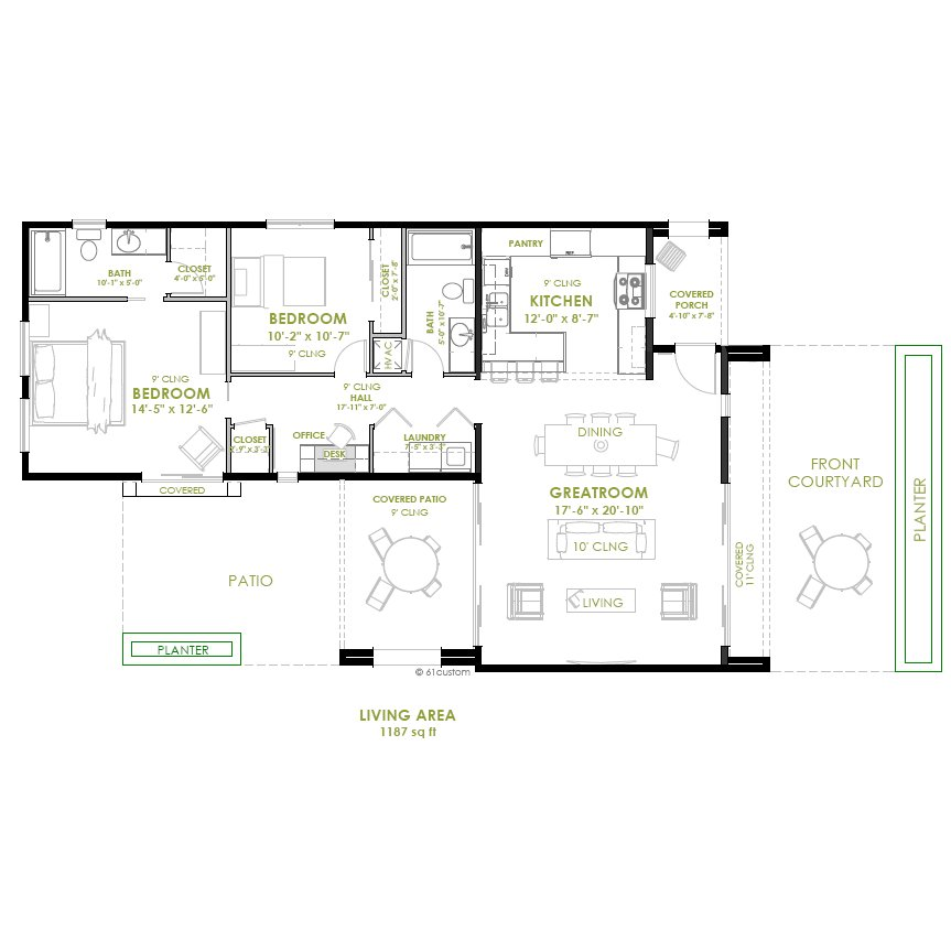Best Modern 2 Bedroom House Plan With Pictures