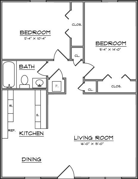 Best What Is The Average Size Of A 2 Bedroom Apartment ...
