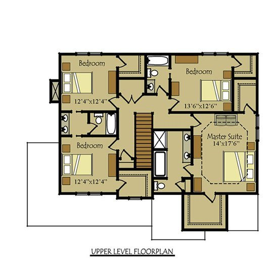 Best Two Story Four Bedroom House Plan With Garage With Pictures