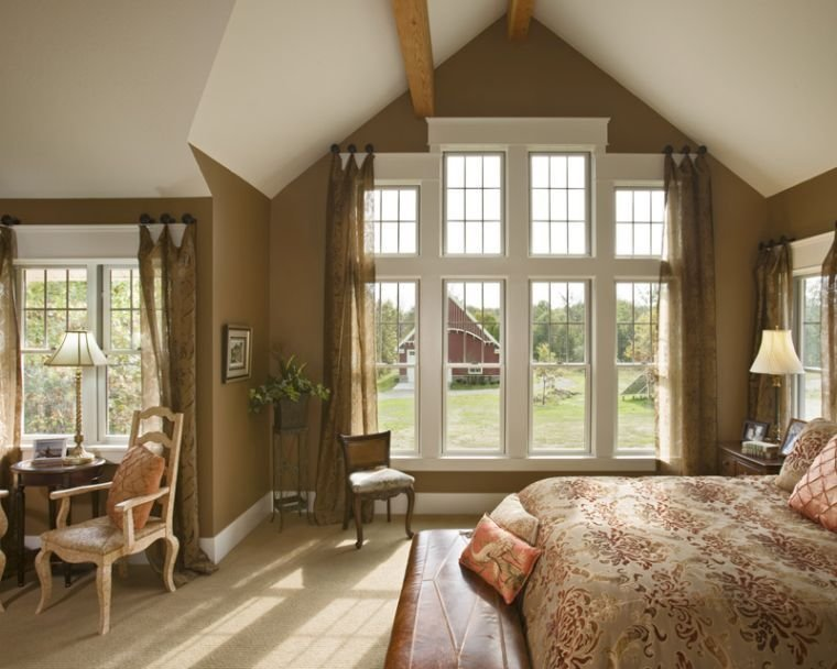 Best Modern Vaulted Ceiling Master Bedroom Ideas Giving Warm Feeling With Pictures