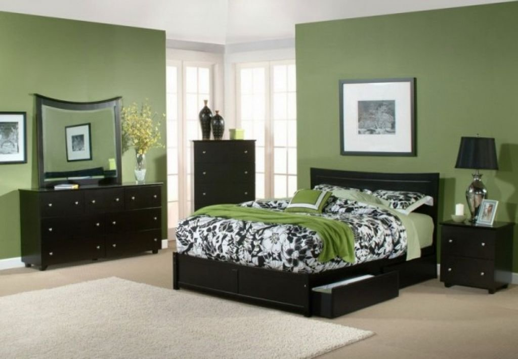 Best Relaxing Paint Colors For Bedrooms With Green Wall And With Pictures
