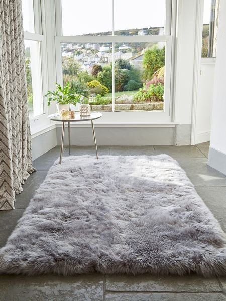 Best Large Grey Sheepskin Rug Large Sheepskin Rug Nordic House With Pictures