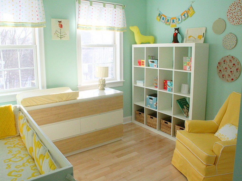 Best Bookcase Changing Table Blue And Yellow Baby Room Light With Pictures