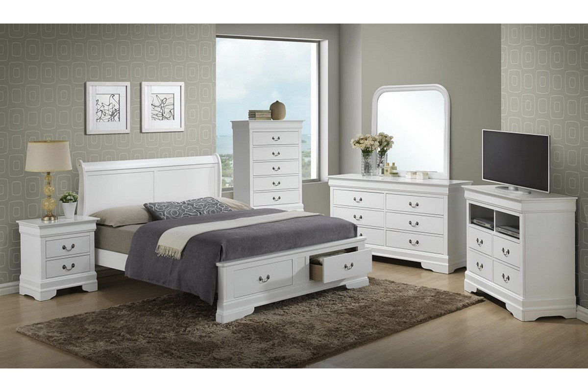 Best Bedroom Sets Dawson White Full Size Storage Bedroom Set With Pictures