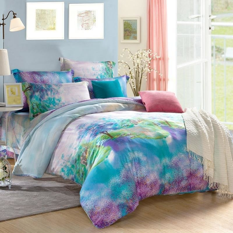 Best Purple Comforter Sets Queen Teal And Bedding Within With Pictures