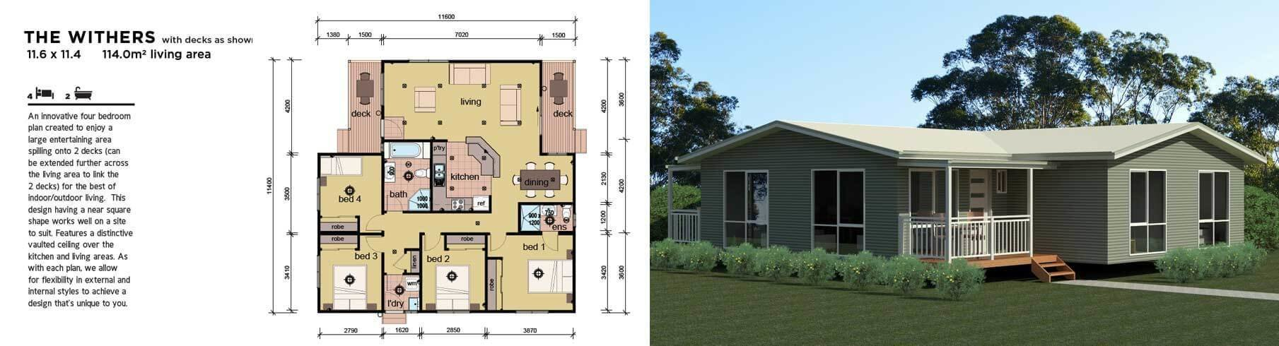 Best The Withers 4 Bedroom Modular Home Parkwood Homes With Pictures