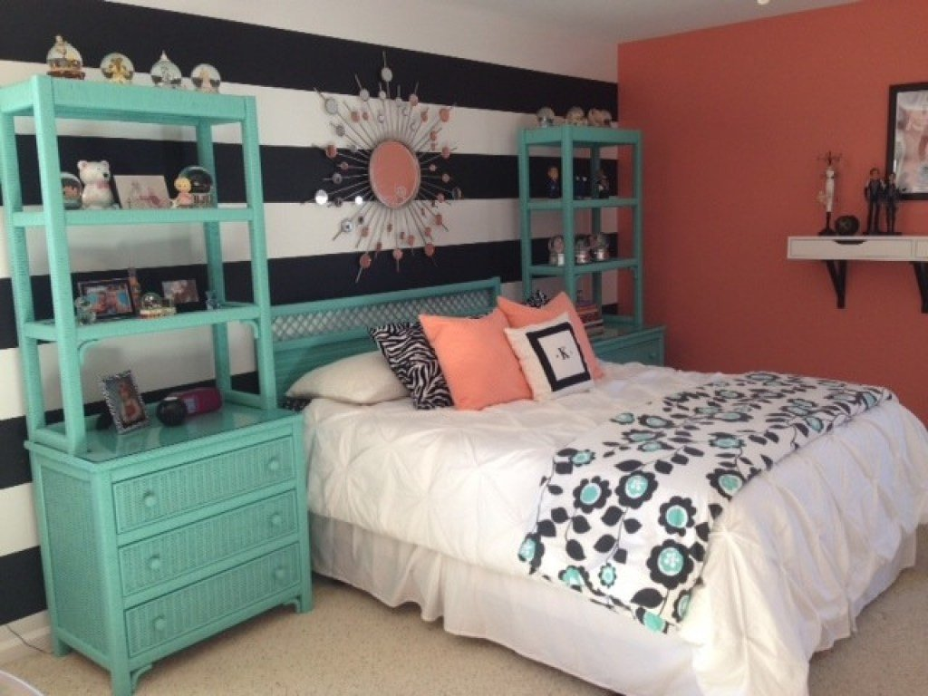Best Teal Room Designs Beachy Teal And Coral Bedroom Coral And With Pictures