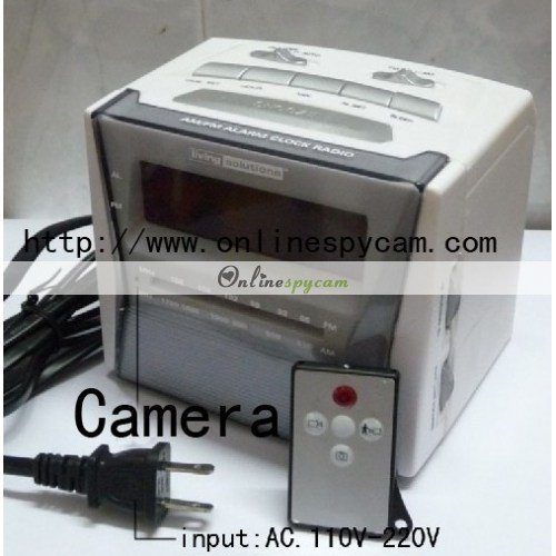 Best Bedroom Spy Camera Alarm Clock Radio Camera 32Gb Motion Activated With Remote Control With Pictures