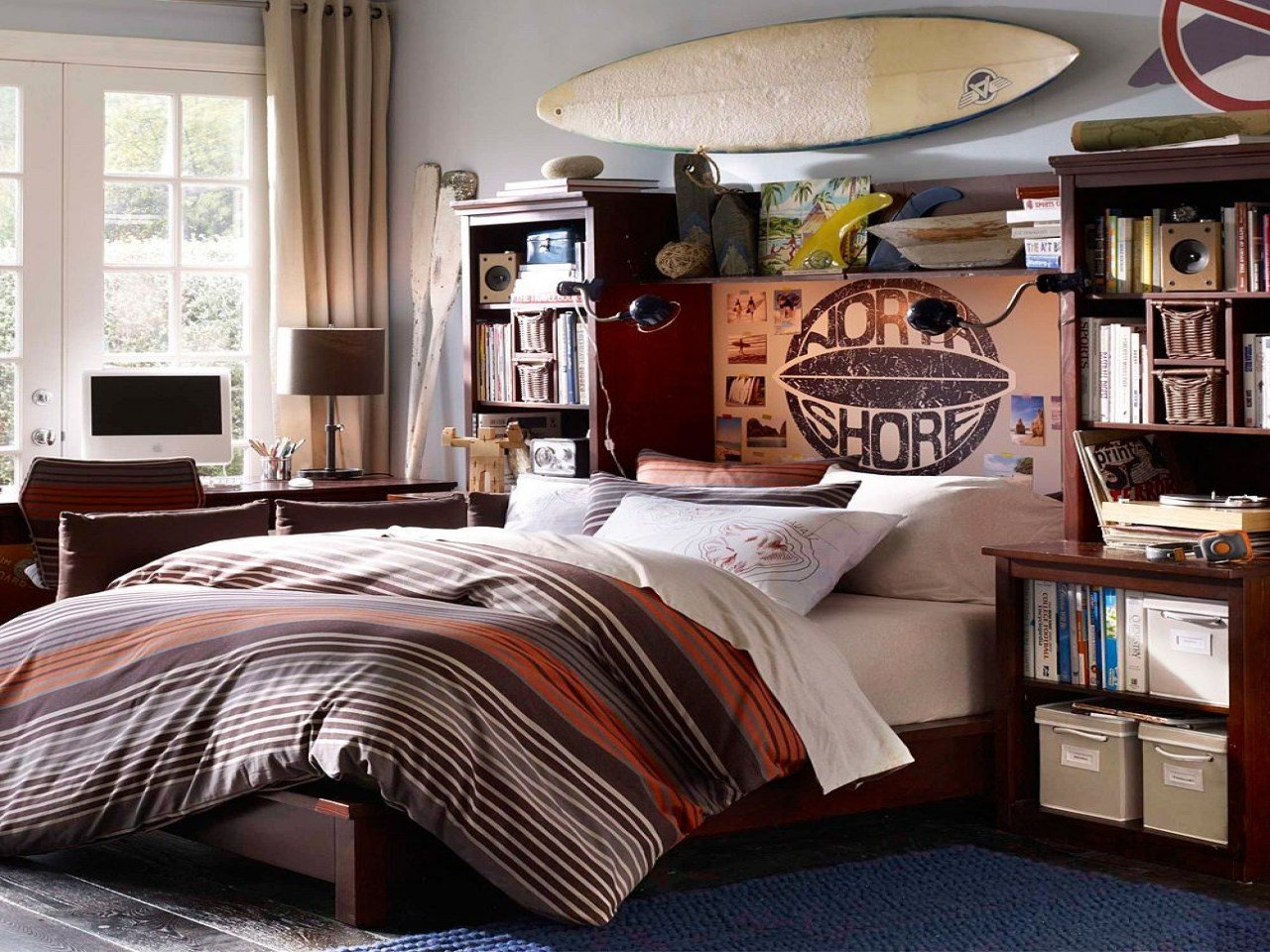 Best Shabby Chic Bookcases Cool Teenage Boy Bedroom Design With Pictures