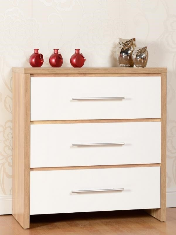 Best Chest Of 4 Drawers Oak White High Gloss Bedroom Furniture With Pictures