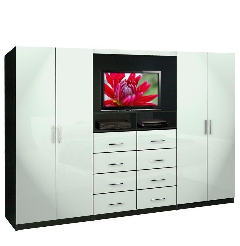 Best Aventa Tv Wall Unit For Bedrooms Bedroom Wall Unit 8 Drawer 4 Door Contempo Space With Pictures