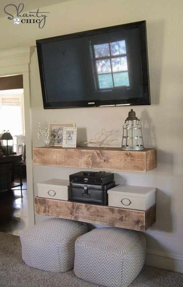 Best Diy Media Shelves Shanty 2 Chic With Pictures