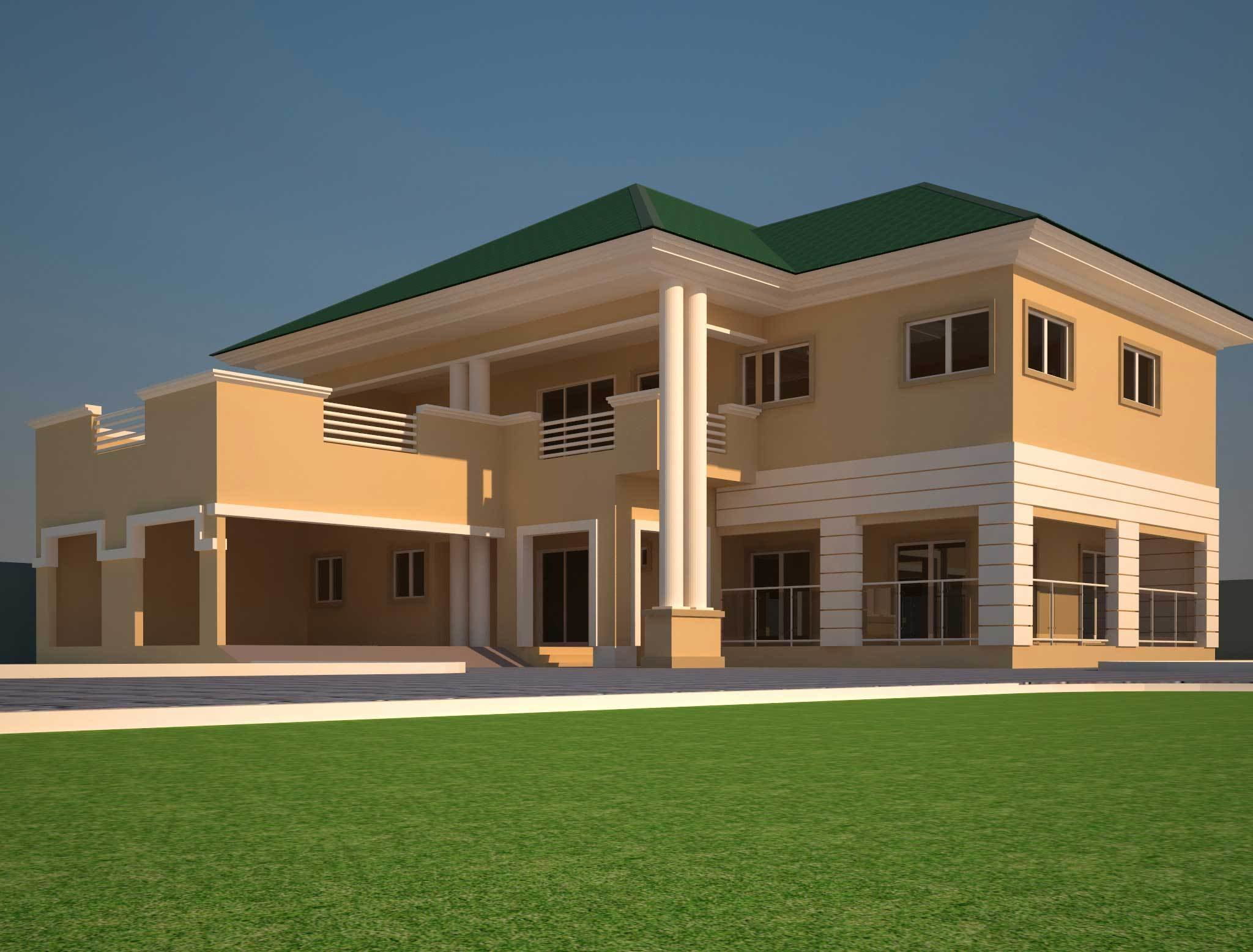Best House Plans Ghana 3 4 5 6 Bedroom House Plans In Ghana With Pictures