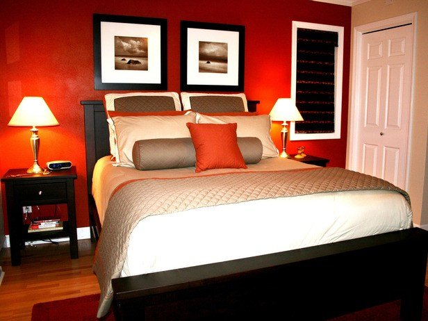 Best I Love The Color In This Bedroom The Bold Red Accent Wall With Pictures