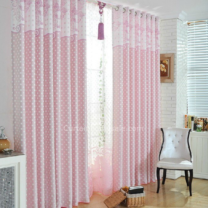 Best Girls Bedroom Polka Dots Pink Room Separators Curtains With Pictures
