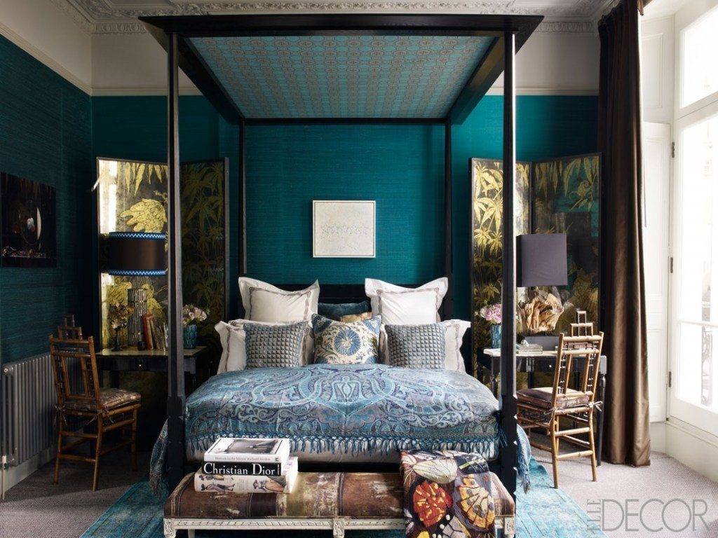 Best Black And White Small Bedroom Ideas Dark Blue And Teal With Pictures