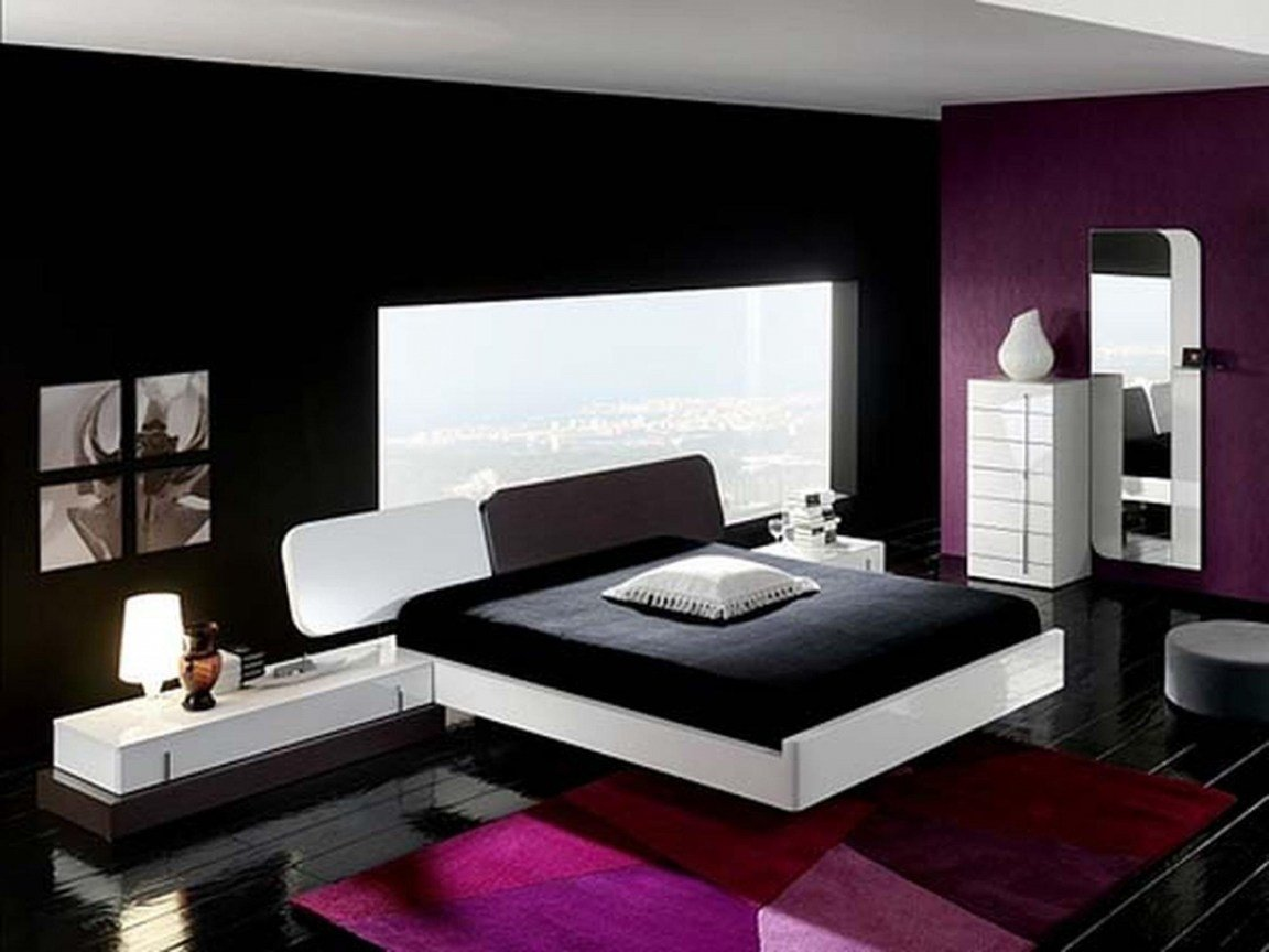 Best Purple And Cream Bedroom Black And Purple Interior With Pictures
