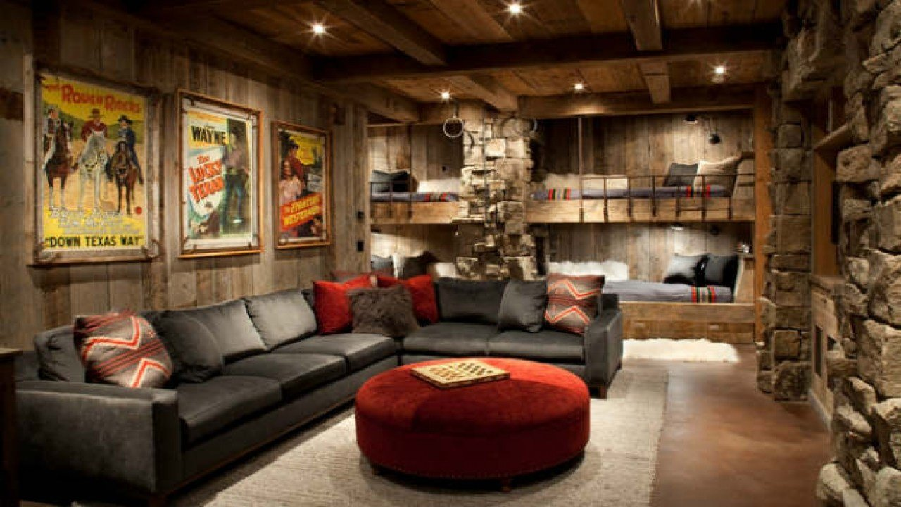 Best Rustic Contemporary Living Room Man Cave Living Room With Pictures
