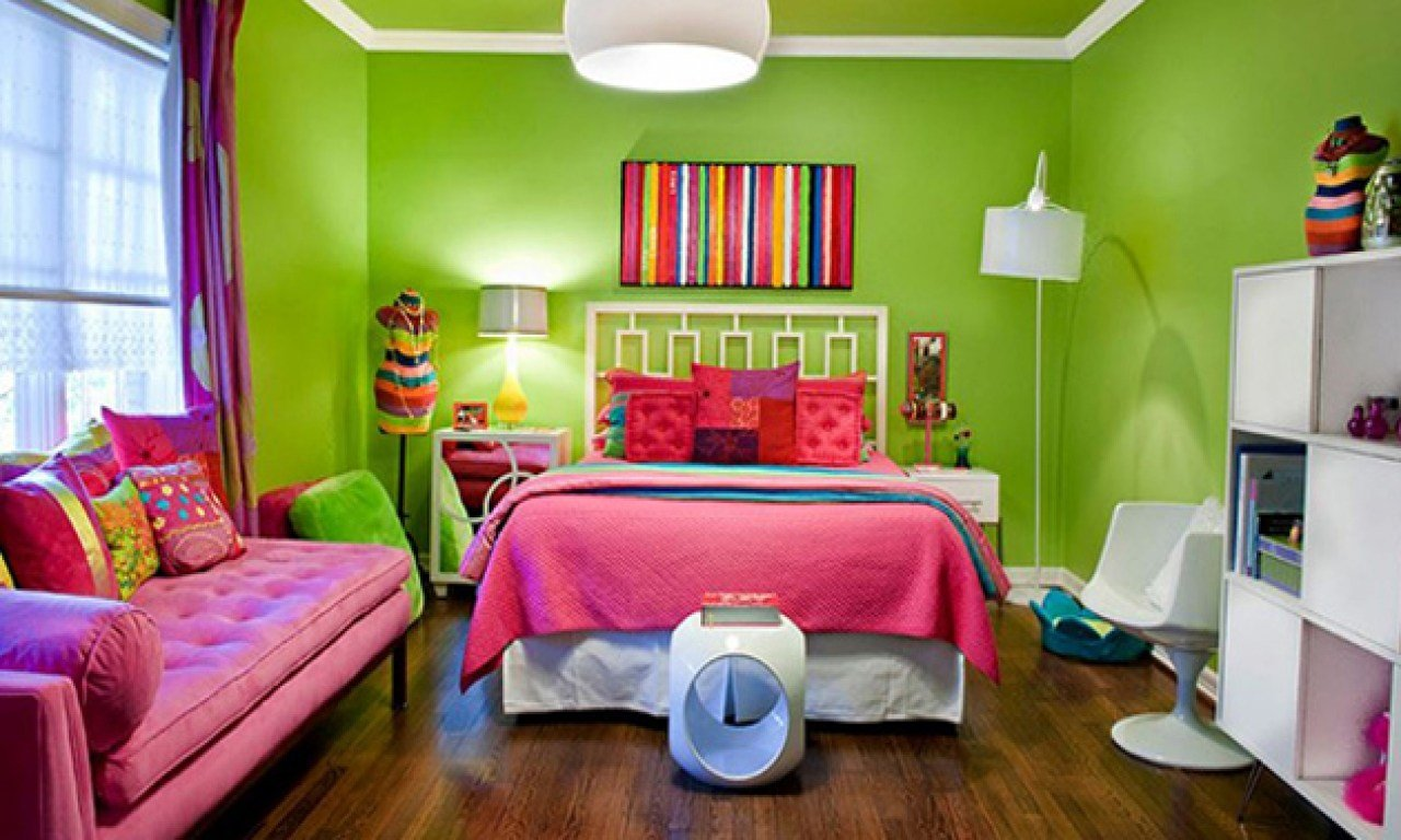 Best Young *D*Lt Bedroom Design Pink And Lime Green Girls With Pictures