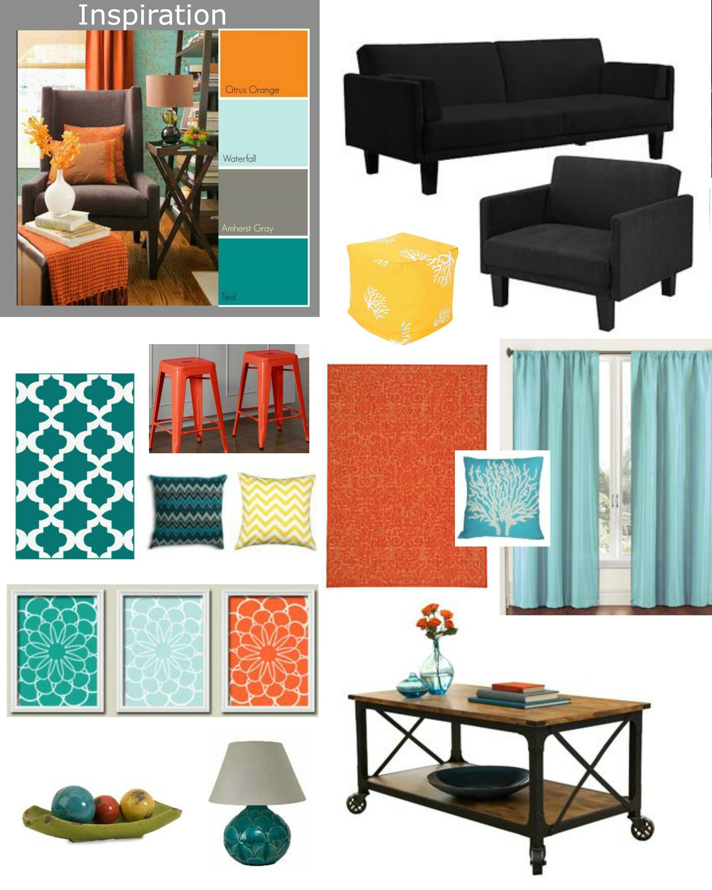 Best 41 Teal And Orange Living Room Decor Elegant Gray Living With Pictures