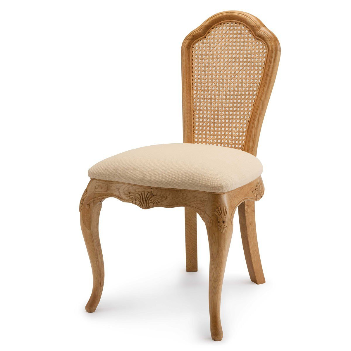 Best Charlotte French Inspired Oak Bedroom Chair Upholstered With Pictures
