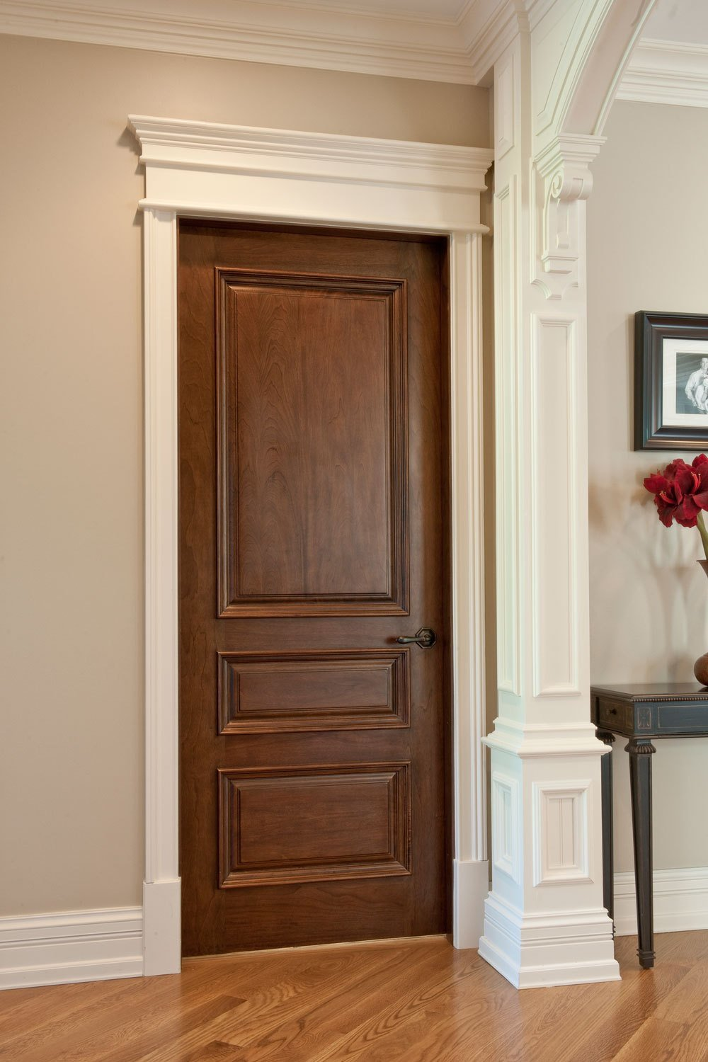 Best Interior Door Custom Single Solid Wood With Walnut With Pictures