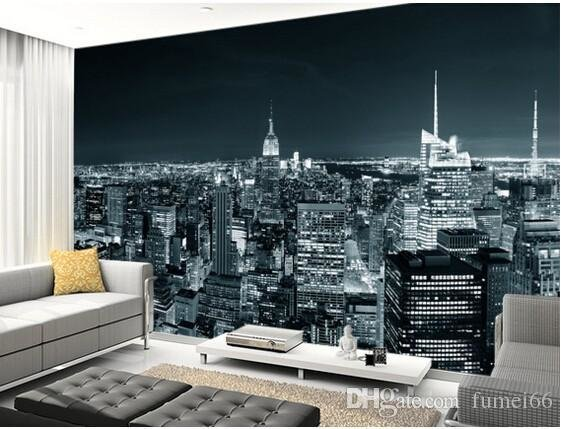 Best Custom Black And White Retro Wallpaper New York Manhattan With Pictures