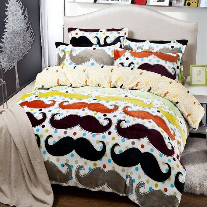 Best Mustache Bedding Comforter Set Twin Full Queen King Size With Pictures