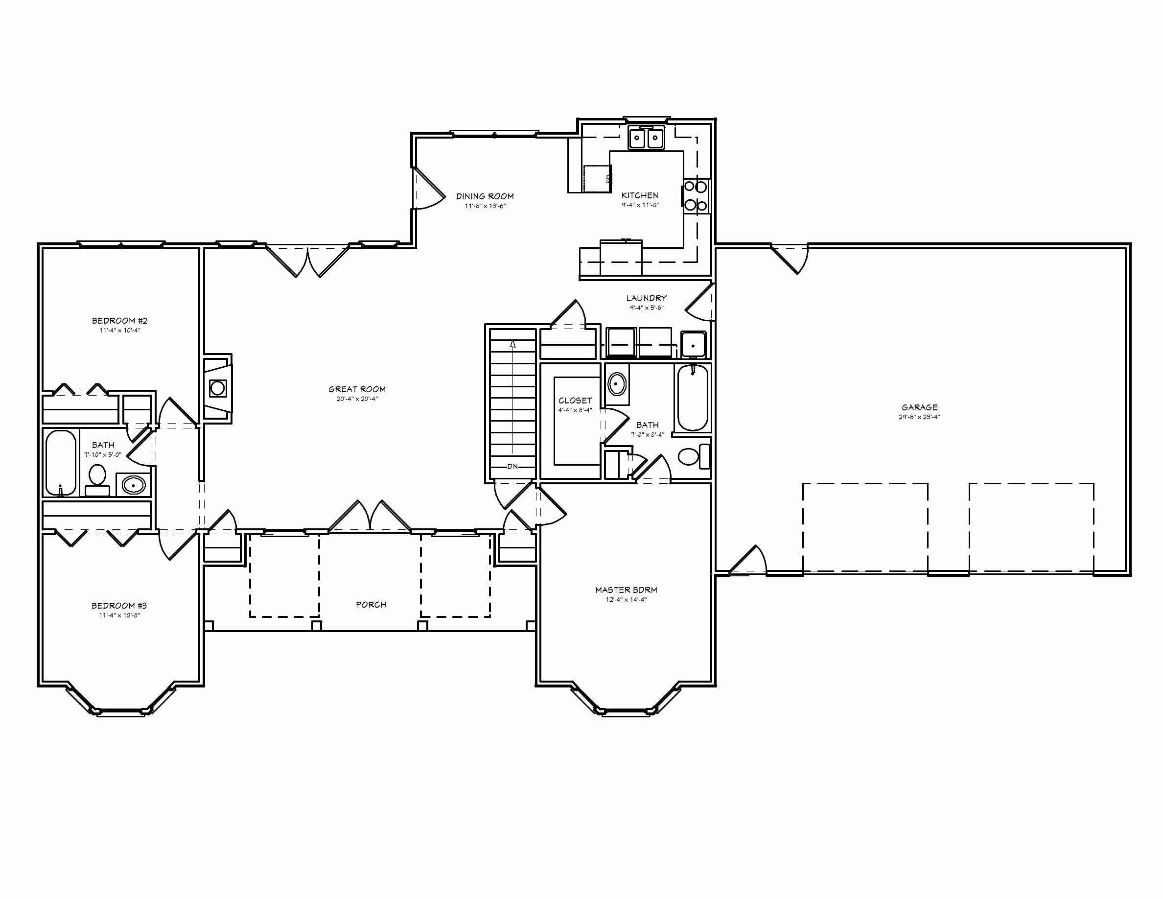 Best Split Bedroom House Plan D67 1528 The House Plan Site With Pictures