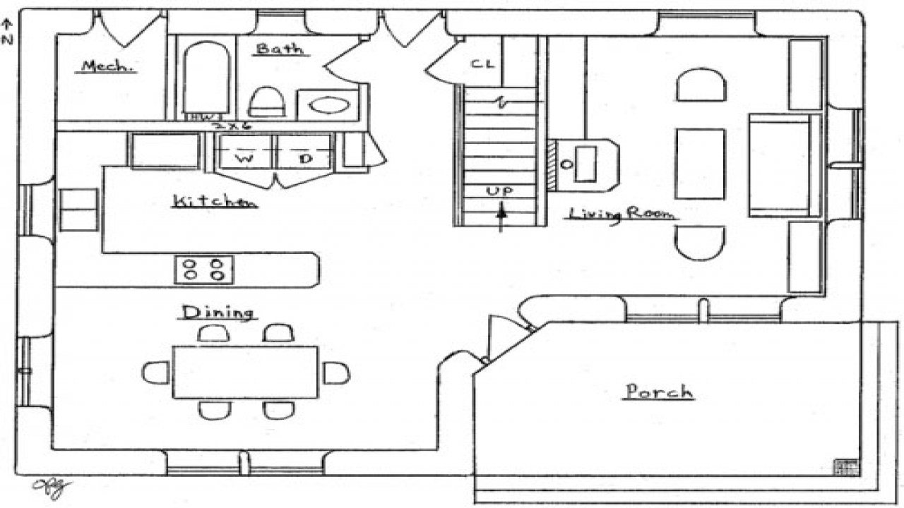 Best 2 Bedroom House Simple Plan Small Two Bedroom House Floor With Pictures