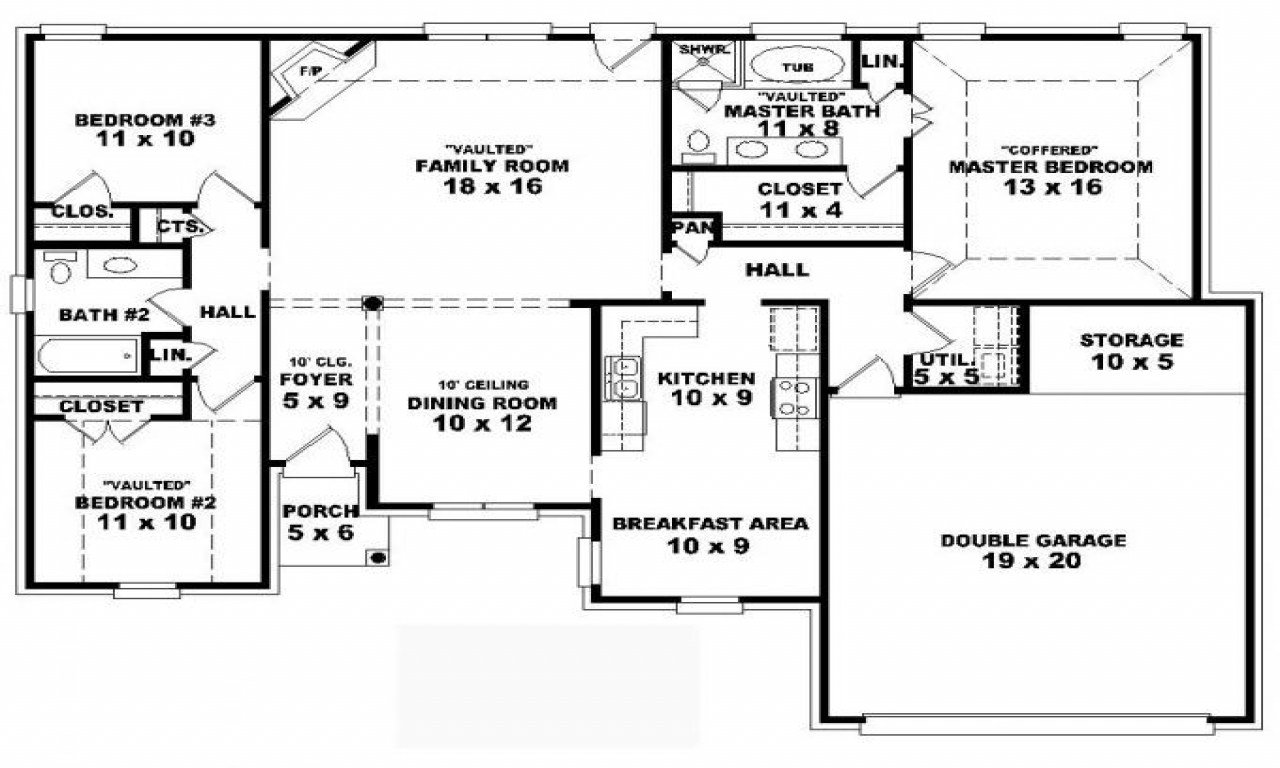 Best 4 Bedroom Modular Floor Plans 4 Bedroom One Story House With Pictures