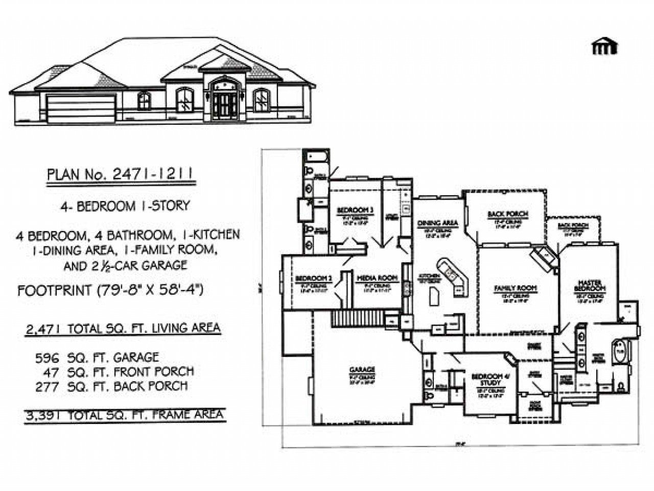 Best 1 Story 4 Bedroom House Plans 4 Bedroom House House Plans With Pictures