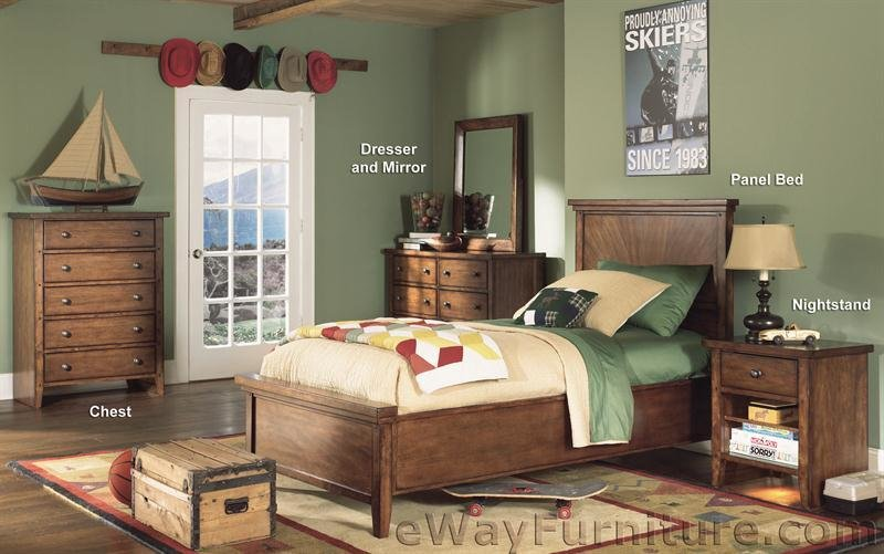Best Oakland Twin Panel Bedroom Set With Pictures