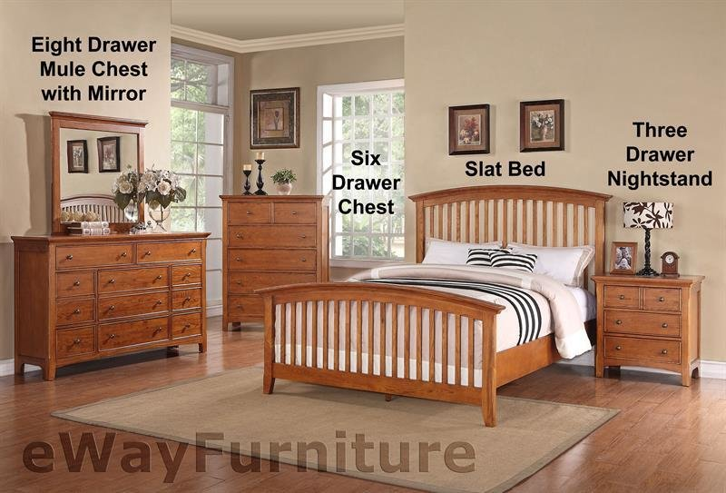 Best Ashland Shaker Style Slat Bed Bedroom Furniture Set With Pictures