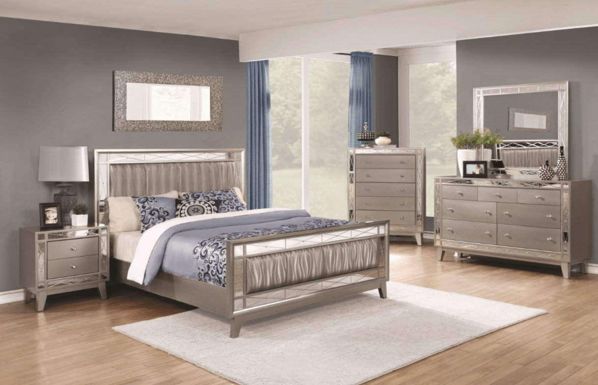 Best Leighton 4Pc Bedroom Set – Furniture Mattress Los Angeles With Pictures