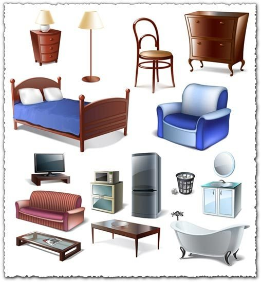 Best Furniture Bedroom Vector Objects With Pictures