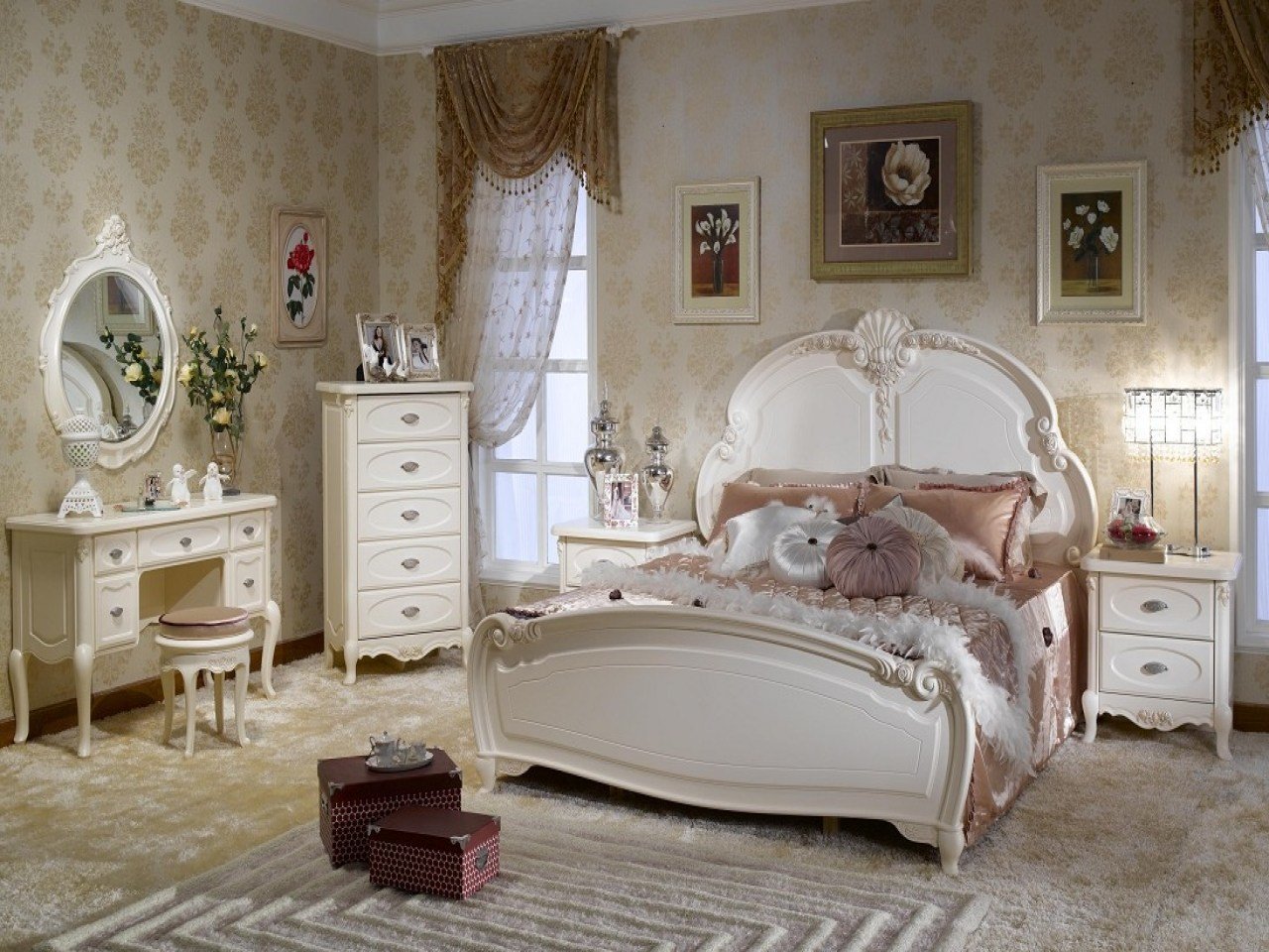 Best Country Style Office Furniture White French Bedroom With Pictures