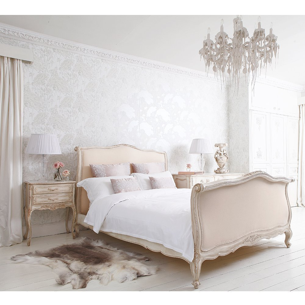 Best Delphine French Upholstered Bed French Bedroom Company With Pictures