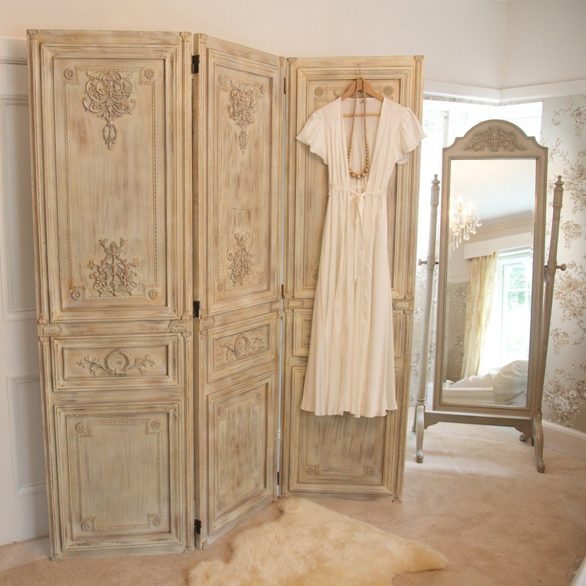 Best Limed Wooden Dressing Screen French Bedroom Company With Pictures
