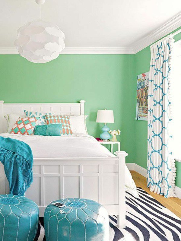 Best A Magical Flair Gives Your Living Room Wall Color Mint With Pictures