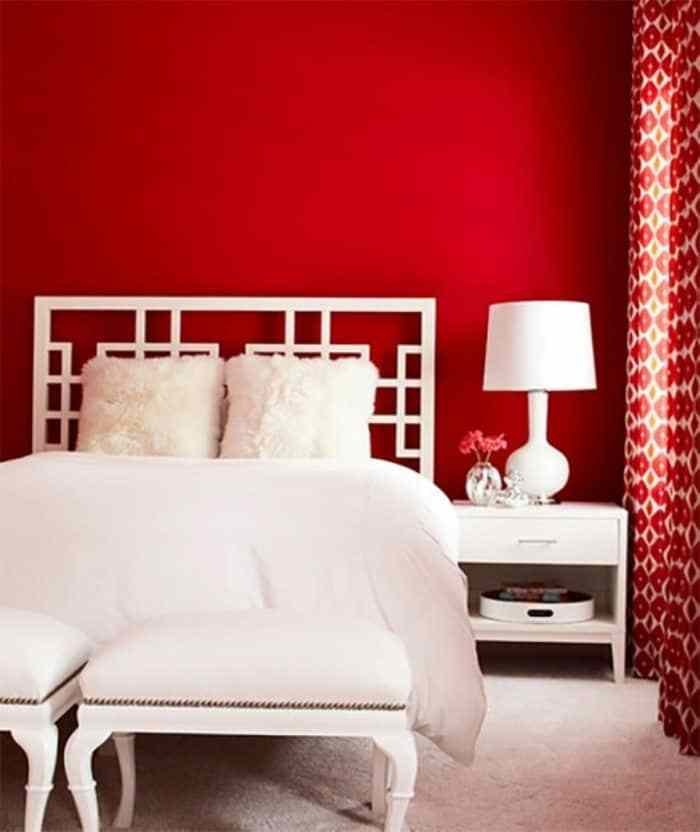 Best Bedroom With White Curtains And Red Walls Bold Red With Pictures