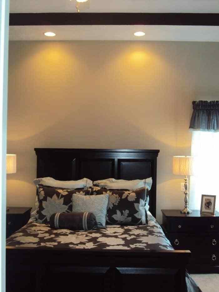 Best Modern Bedroom With Corner Bed And Recessed Lighting With Pictures