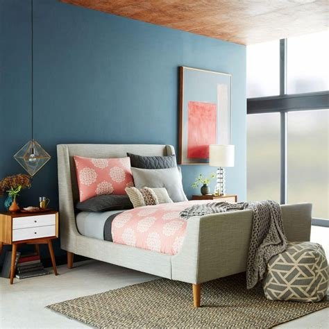 Best Upholstered Sleigh Bed West Elm Au With Pictures