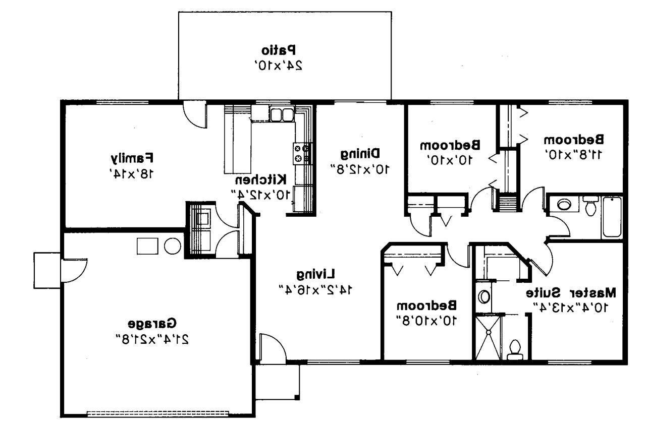 Best Bedroom Rectangular House Plans 3 2 Bath 4 Bedroom Modern With Pictures